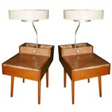 Pair George Nelson Lamp/End Tables for Herman Miller