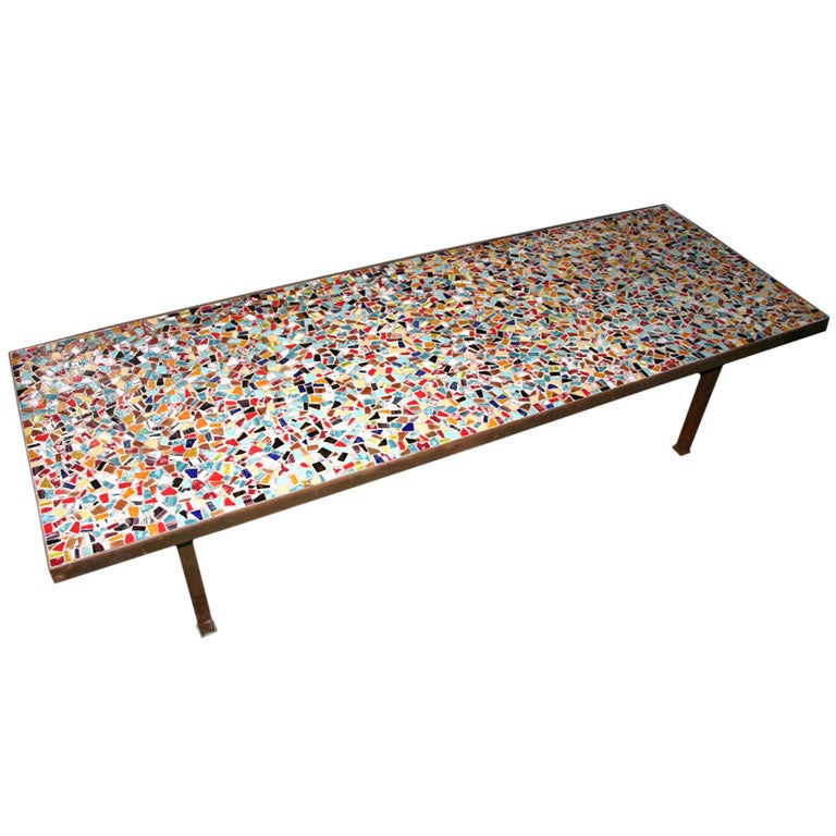 italian mosaic tile coffee table at 1stdibs