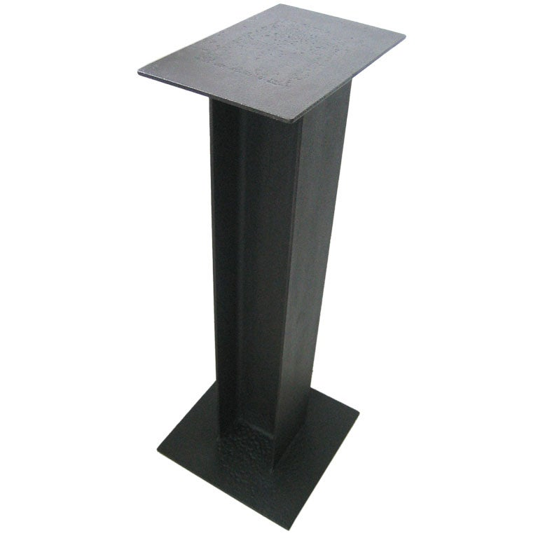 Steel I Beam Pedestal Ward Bennett At 1stdibs