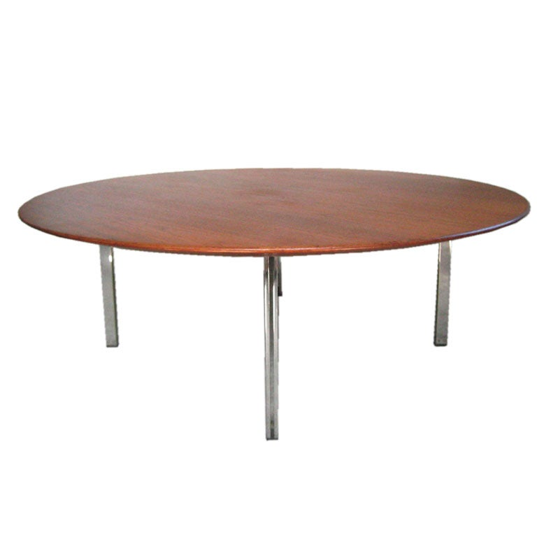 Early Parallel Bar Coffee Table Knoll Assoc At 1stdibs