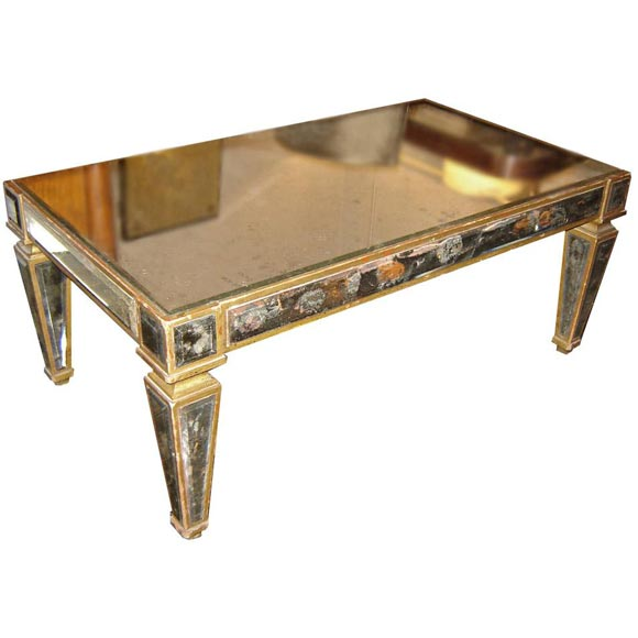 194039s mirrored coffee table at 1stdibs for Mirrored coffee tables