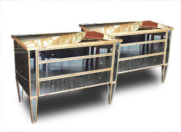 Neo classic mirrored commodes at 1stdibs - Commode classique ...
