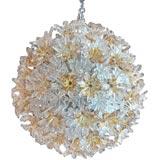 """Esprit"" Flower Ball Chandelier by Venini"