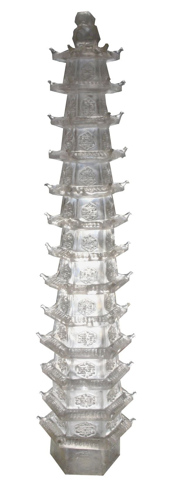 Pair of Crystalline Resin Pagodas by Tony Duquette at 1stdibs