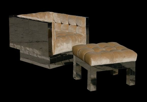 Cube Chair And Ottoman By Paul Evans At 1stdibs