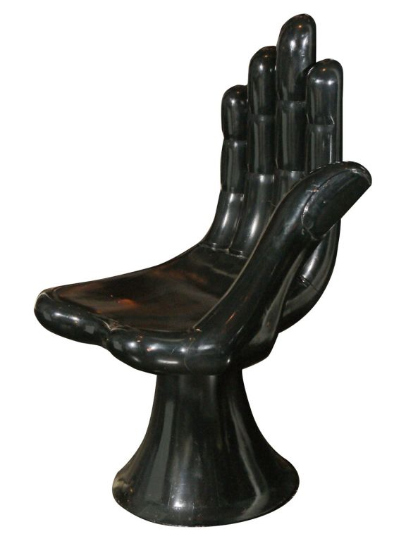 set of four hand chair sculptures by pedro friedeberg at
