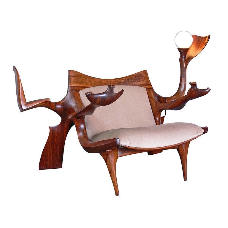 Jack Hopkins - Custom Lounge Chair & Ottoman by Jack Rogers Hopkins