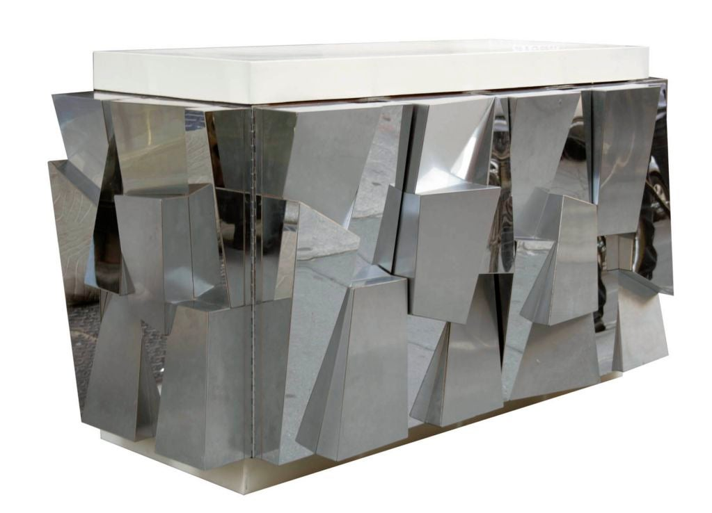 Rare Faceted Console by Paul Evans 2