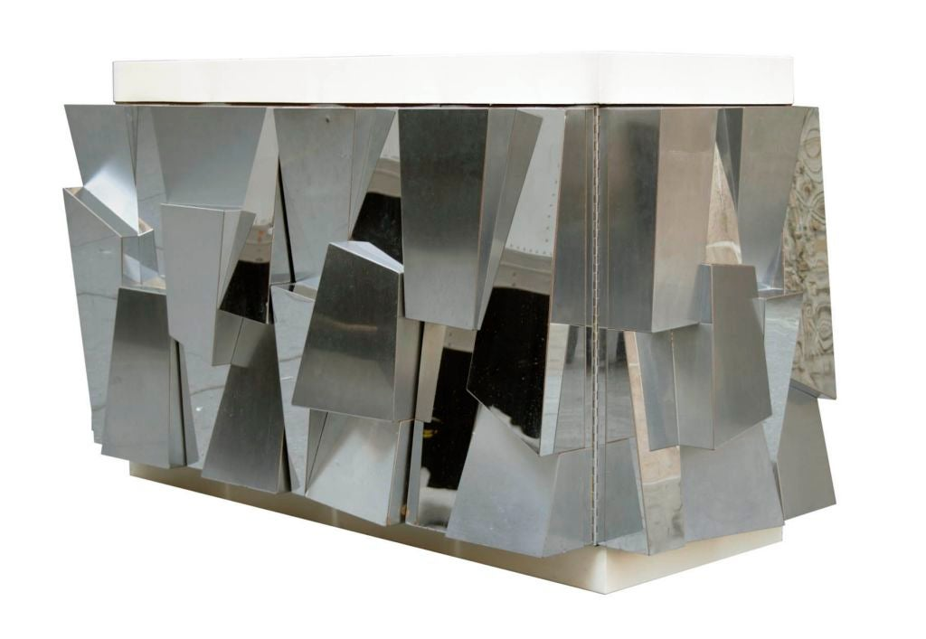 Rare Faceted Console by Paul Evans 3