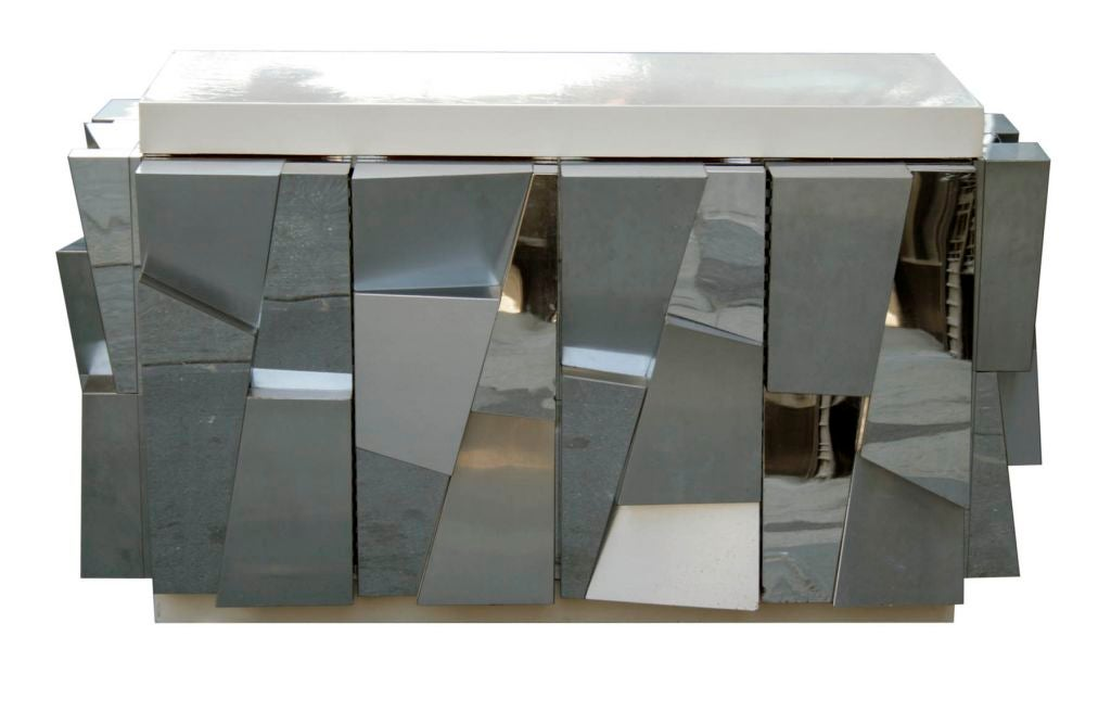 Rare Faceted Console by Paul Evans 4