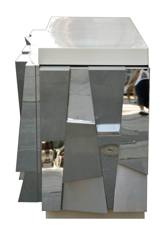 Rare Faceted Console by Paul Evans 5