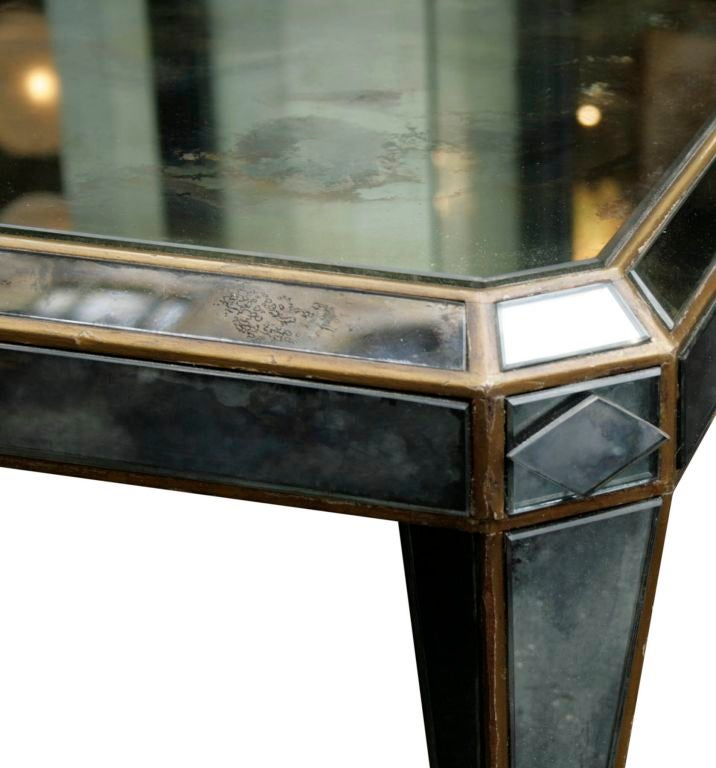 Smoked Mirrored Low Table At 1stdibs