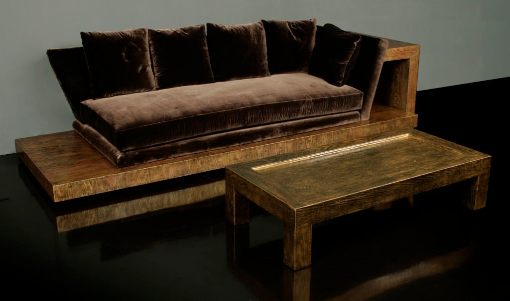 Opium den sofa and low table by james mont at 1stdibs for Low sofa table