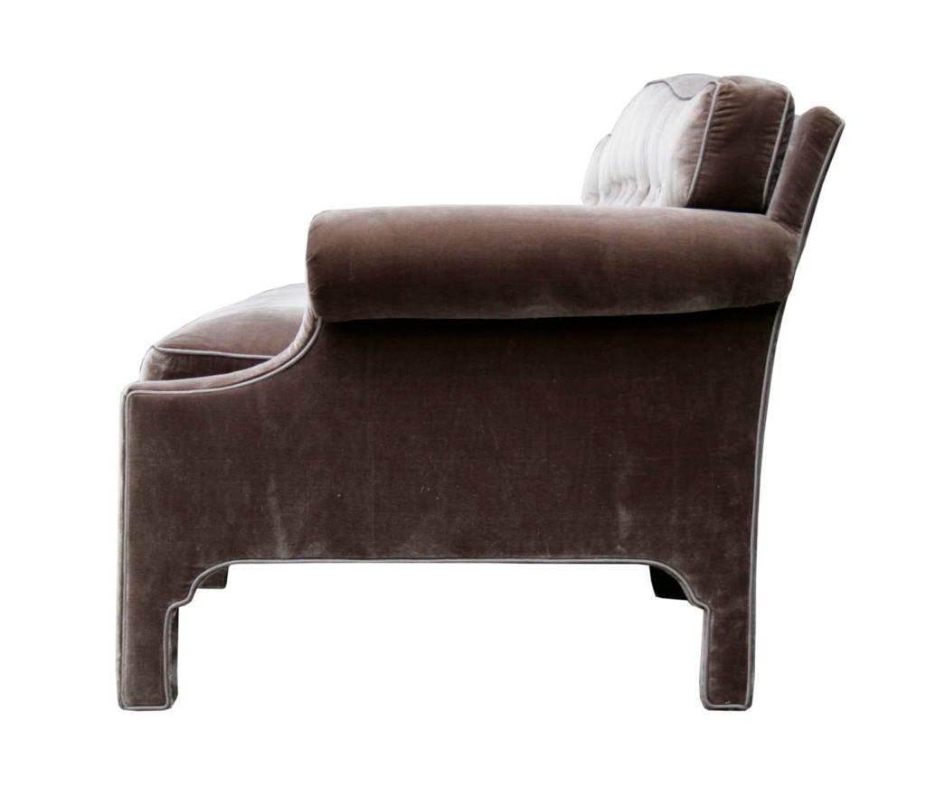 Hollywood Regency Sofa in Silk Velvet 3