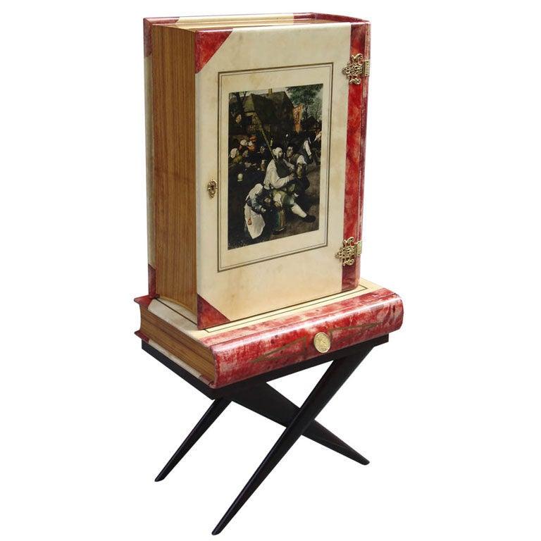 trompe l oeil bar by aldo tura at 1stdibs. Black Bedroom Furniture Sets. Home Design Ideas