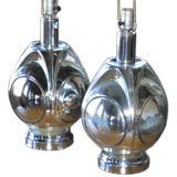 A Pair of Architectural Mercury Glass Lamps