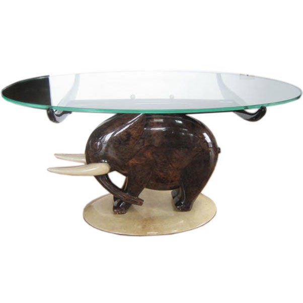 An elephant cocktail table by aldo tura for sale at 1stdibs Elephant coffee table
