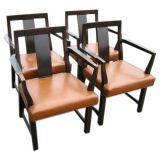 Set of Six Dunbar Armchairs by Wormley