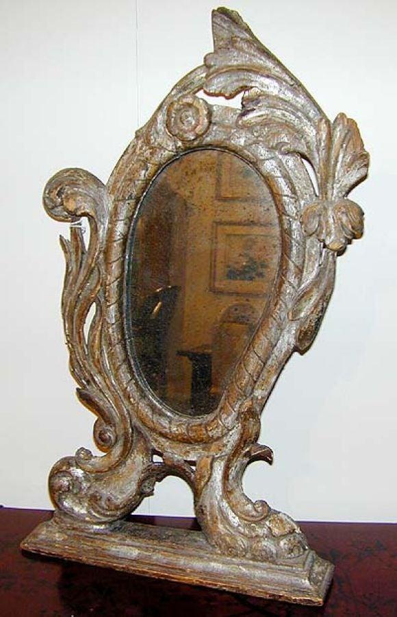 venetian silver gilt vanity mirror at 1stdibs. Black Bedroom Furniture Sets. Home Design Ideas