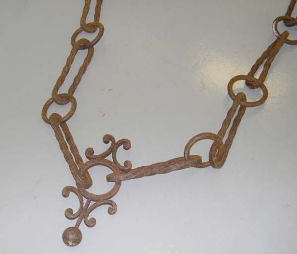 Massive th century wrought iron chain at stdibs