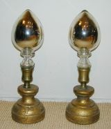 Pair of Mercury Glass Finials