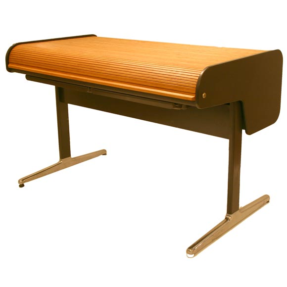 George Nelson Action Office Roll Top Desk For Herman