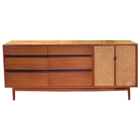 teak sideboard with rattan doors at 1stdibs. Black Bedroom Furniture Sets. Home Design Ideas