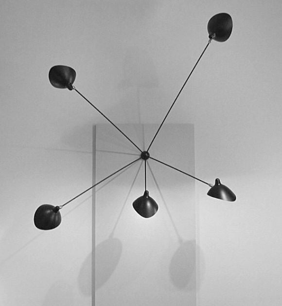 mouille lighting. spider sconce 5 arm by serge mouille 2 lighting