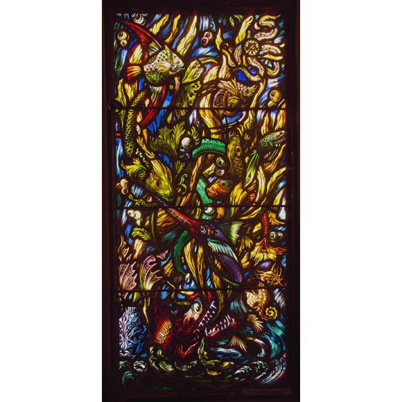Stained Glass window commissioned by Gertrude Vanderbilt Whitney 1