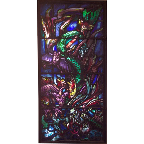 Stained Glass Window commissioned by Gertrude Vanderbilt Whitney For Sale