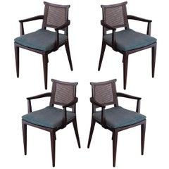 Set of Four Gaming Chairs by Edward Wormley for Dunbar