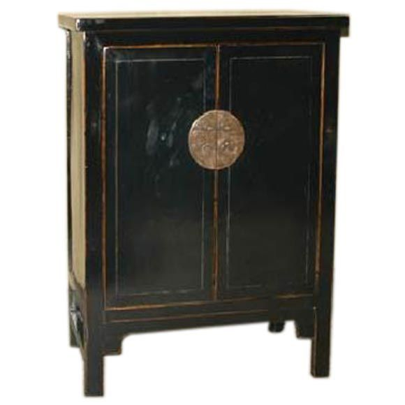 black lacquer cabinet at 1stdibs