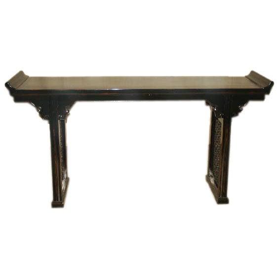 Black Lacquer Console Table