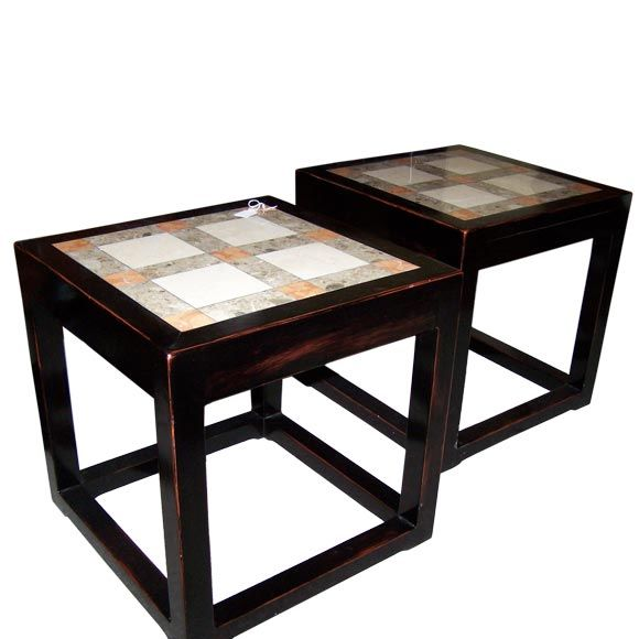 Marble Coffee Table Adelaide: Pair Of Marble Top Sidetables. At 1stdibs