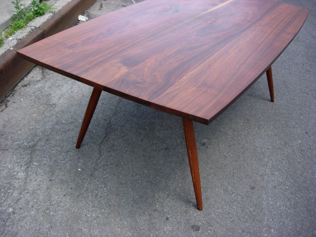1970 39 s nakashima style craftsman solid walnut dining table at 1stdibs