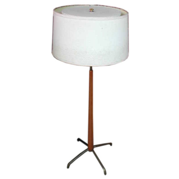 Wall Lamp Height From Floor : Gerald Thurston for Lightolier adjustable height floor lamp at 1stdibs
