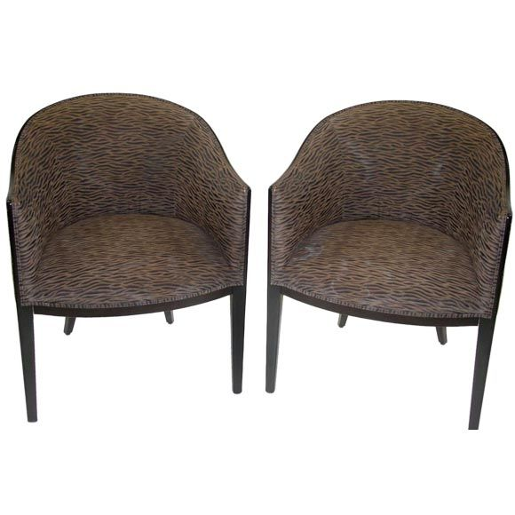 Shaped Chairs: A Pair Of 1950s Barrel Shaped Chairs. At 1stdibs