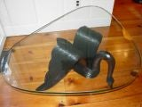 An  Art  Deco Hand Carved Swan Coffee Table image 3
