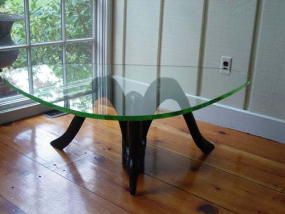 An  Art  Deco Hand Carved Swan Coffee Table 5