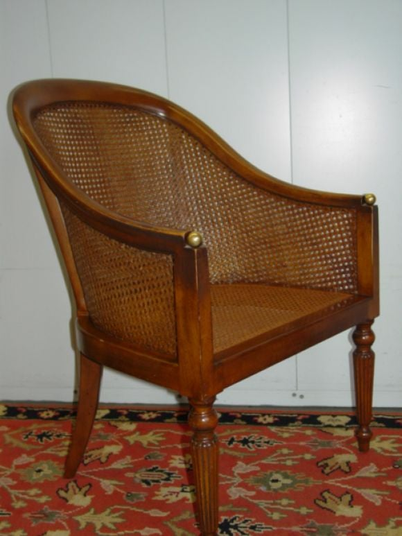 A Pair Of West Indies Light Mahogany Caned Chairs At 1stdibs