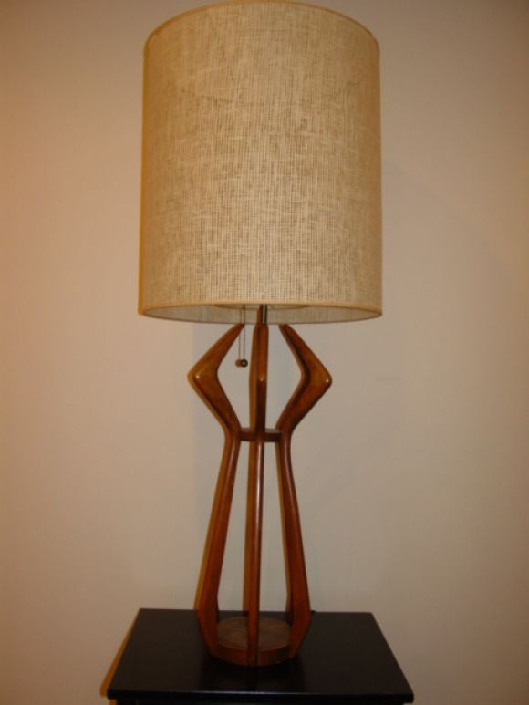 this a danish cherry wood tall table lamp is no longer available. Black Bedroom Furniture Sets. Home Design Ideas