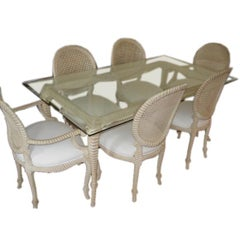 A  Dinning Room Set of Four Side Chairs & Two Arm Chairs.