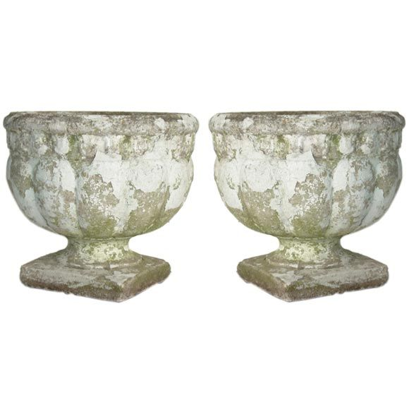 A pair of cast cement 1920s planters at 1stdibs - Casting concrete planters ...