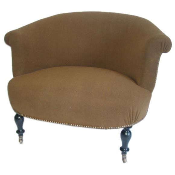 Extra Wide Upholstered Barrel Back Armchair At 1stdibs