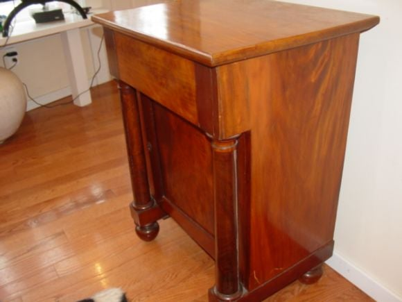 American empire mahogany lift top night stand cabinet at for American empire bedroom furniture