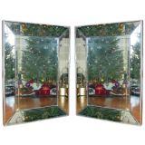 Pair of 20th century  Concave Mirrors