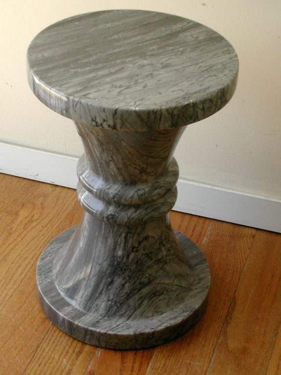 Pair Marble Stools Or Occasional Tables At 1stdibs