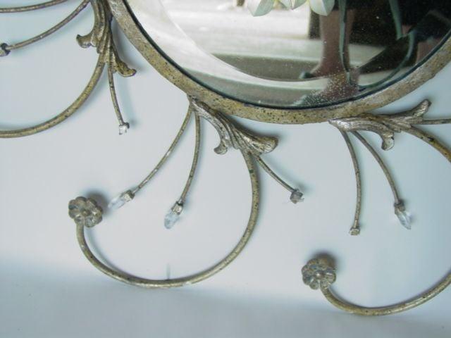 Decorative Powder Room Iron Mirror At 1stdibs