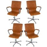 Set of Four Jacobsen Oxford Adjustable Desk Chairs
