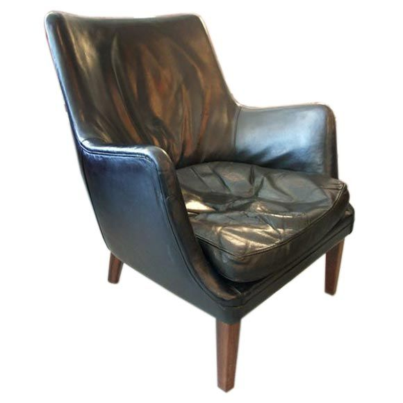 this arne vodder black leather easy chair is no longer available